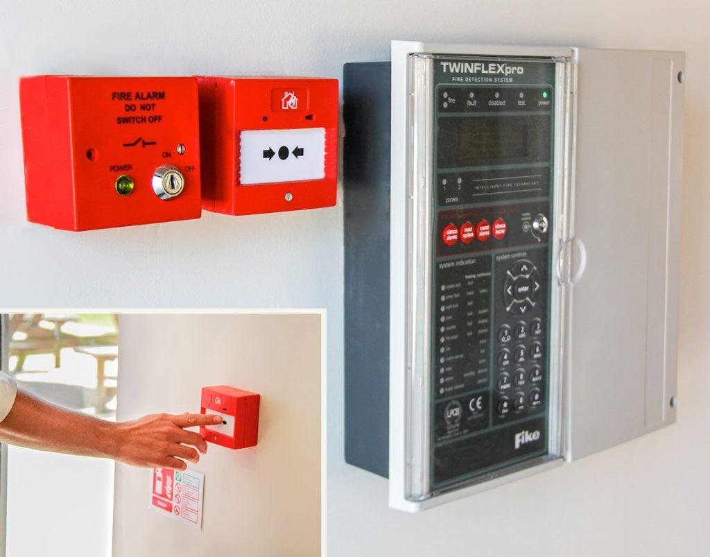 push fire alarm panel
