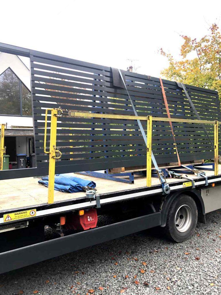 Security gate on back of lorry Brentwood