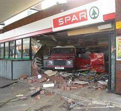 Vehicle ramraid through shop window