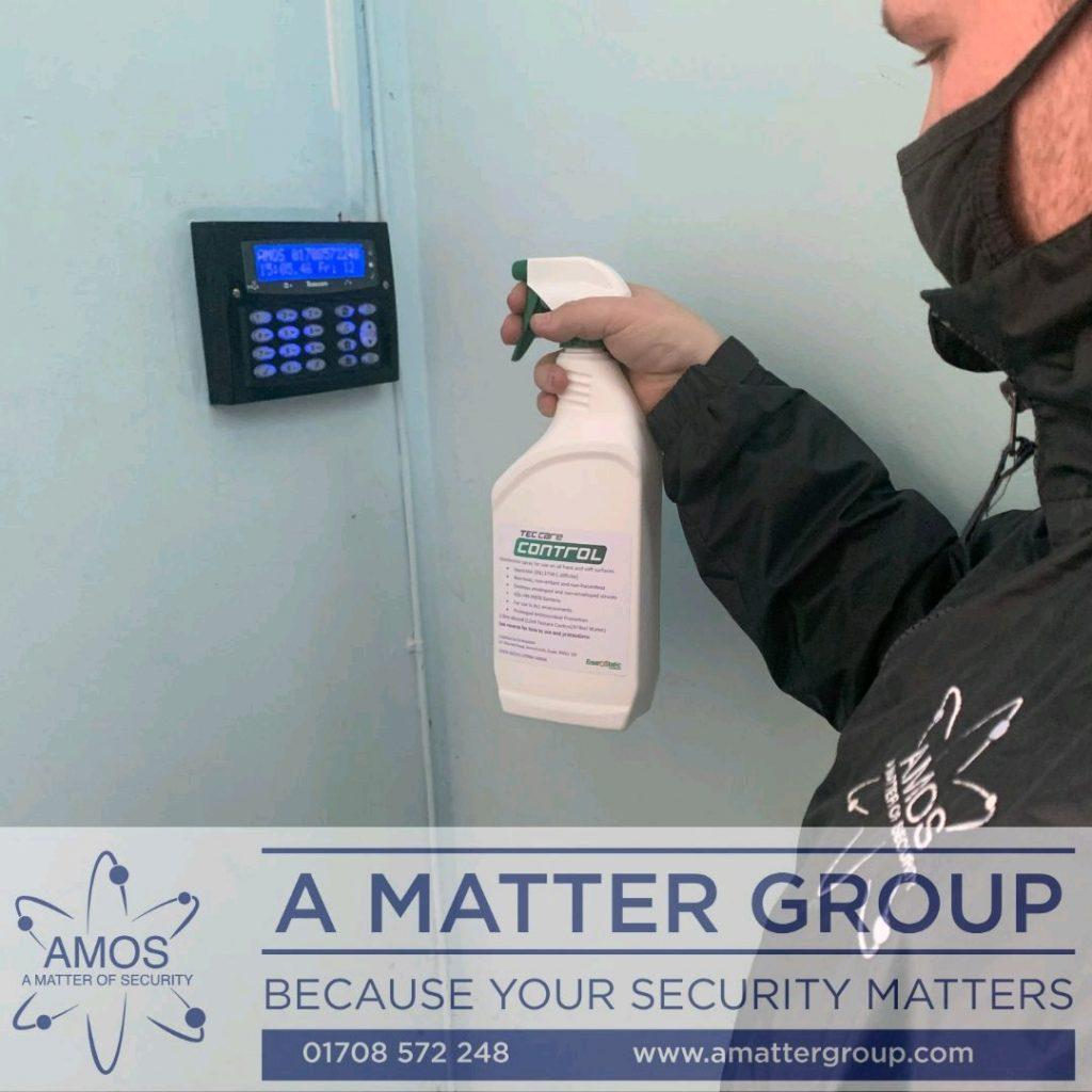 Security spraying key pad